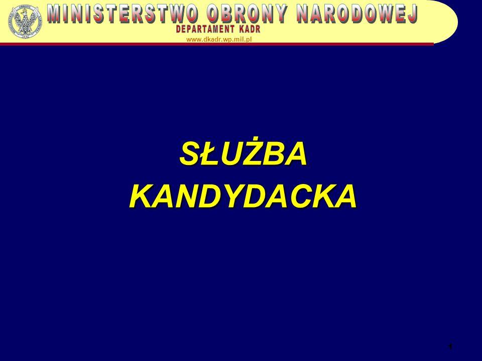 1 SŁUŻBA KANDYDACKA www.dkadr.wp.mil.pl