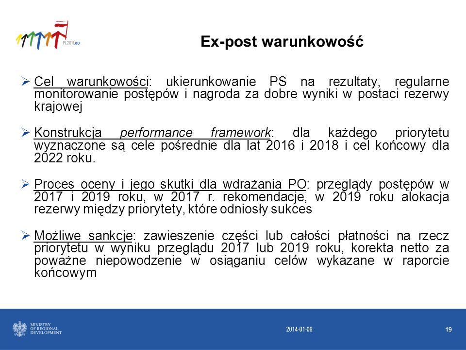 2014-01-06 19 Cel warunkowości: ukierunkowanie PS na rezultaty, regularne monitorowanie postępów i nagroda za dobre wyniki w postaci rezerwy krajowej