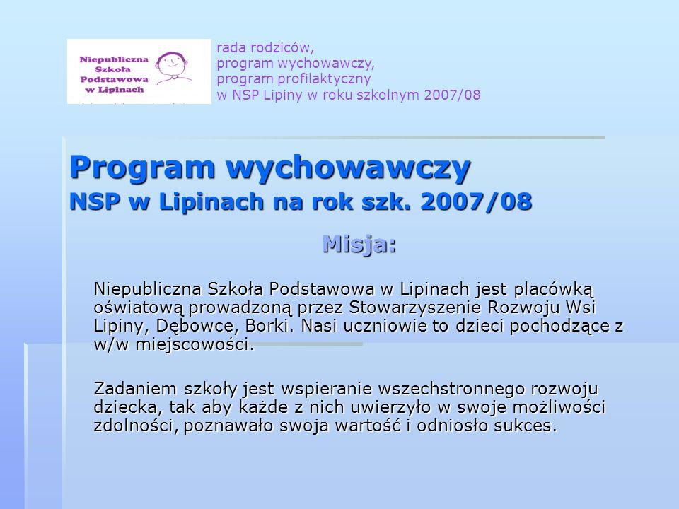 Program wychowawczy NSP w Lipinach na rok szk.