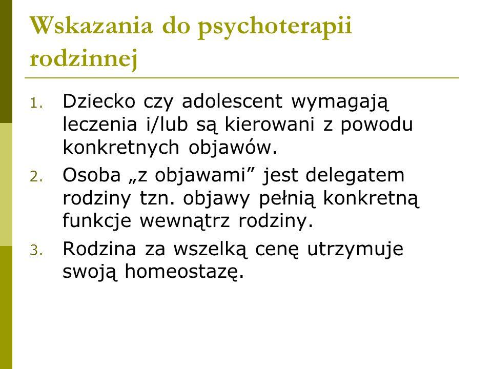 Wskazania do psychoterapii rodzinnej 1.