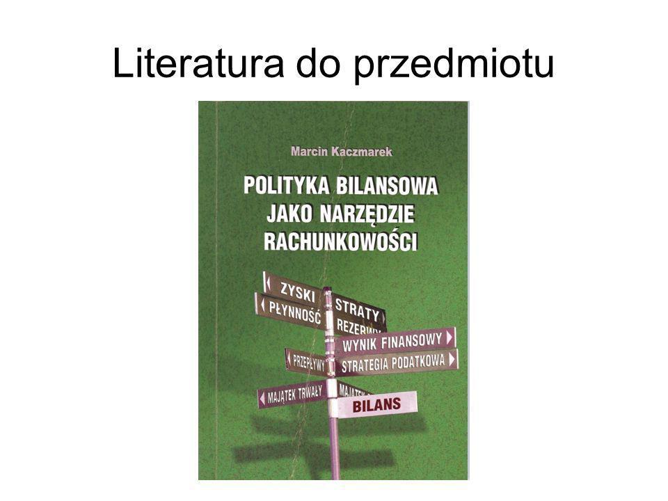 Literatura do przedmiotu