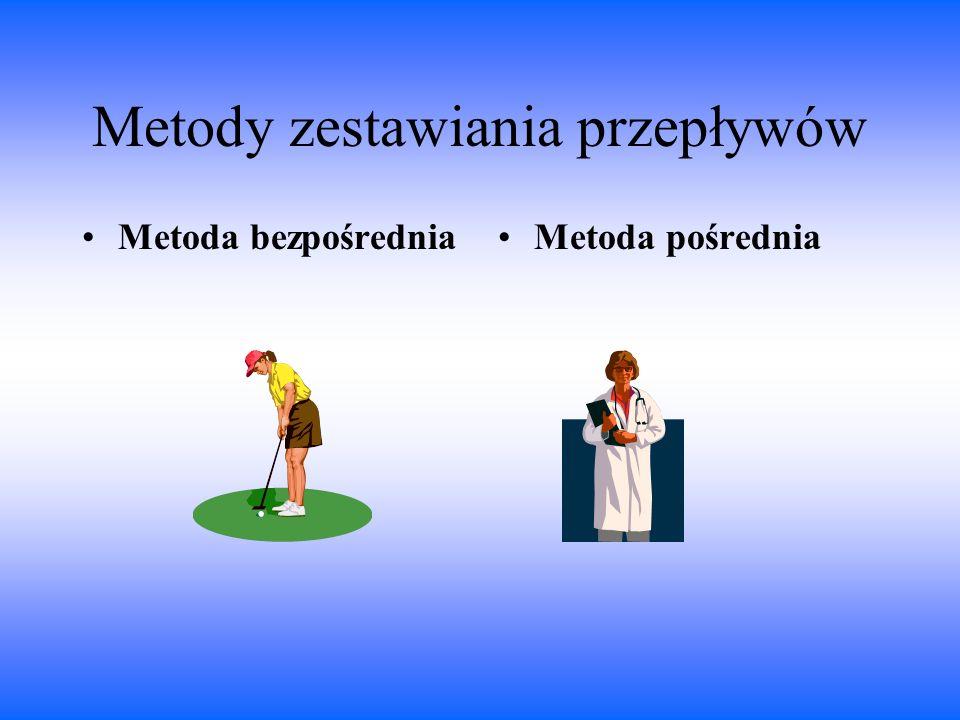 Metody zestawiania przepływów Metoda bezpośredniaMetoda pośrednia