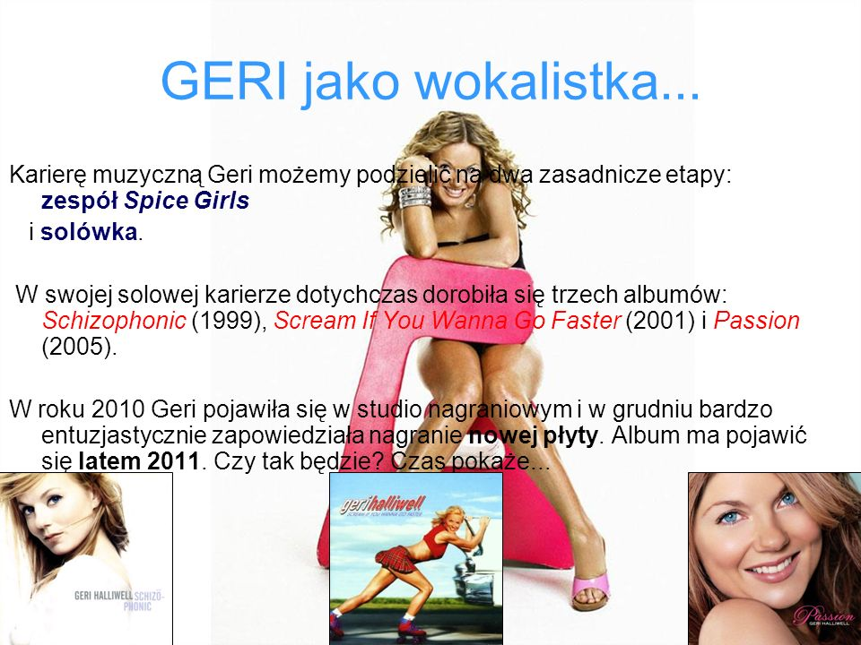 GERI jako wokalistka...