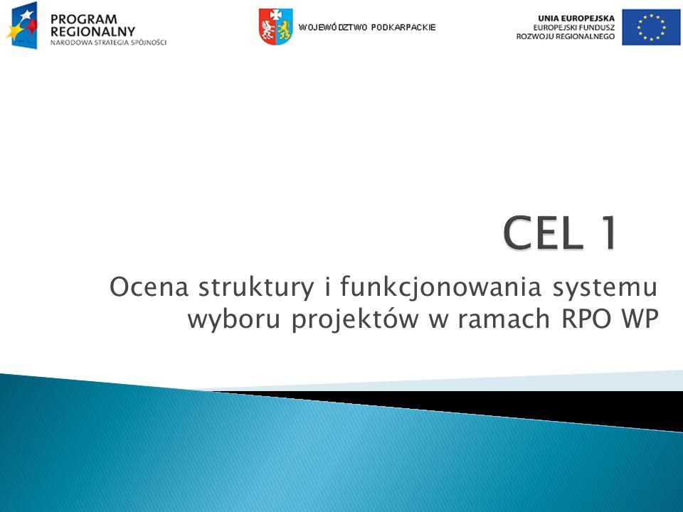 Ocena struktury i funkcjonowania systemu wyboru projektów w ramach RPO WP
