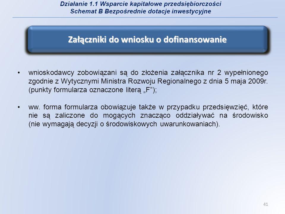 wnioskodawcy zobowiązani są do złożenia załącznika nr 2 wypełnionego zgodnie z Wytycznymi Ministra Rozwoju Regionalnego z dnia 5 maja 2009r. (punkty f
