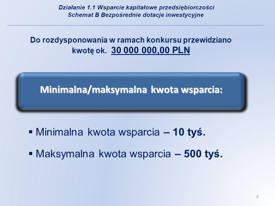 Minimalna wartość projektu - 20 tys.