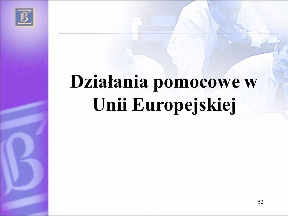 62 Działania pomocowe w Unii Europejskiej