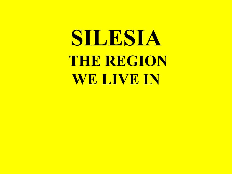 SILESIA IS DIVIDED INTO THE UPPER AND LOWER ONE