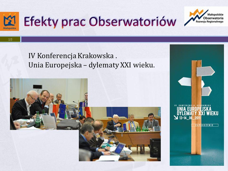 18 IV Konferencja Krakowska. Unia Europejska – dylematy XXI wieku.
