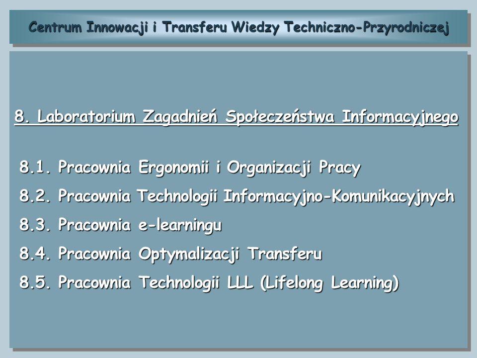 Centrum Innowacji i Transferu Wiedzy Techniczno-Przyrodniczej 8. Laboratorium Zagadnień Społeczeństwa Informacyjnego 8.1. Pracownia Ergonomii i Organi