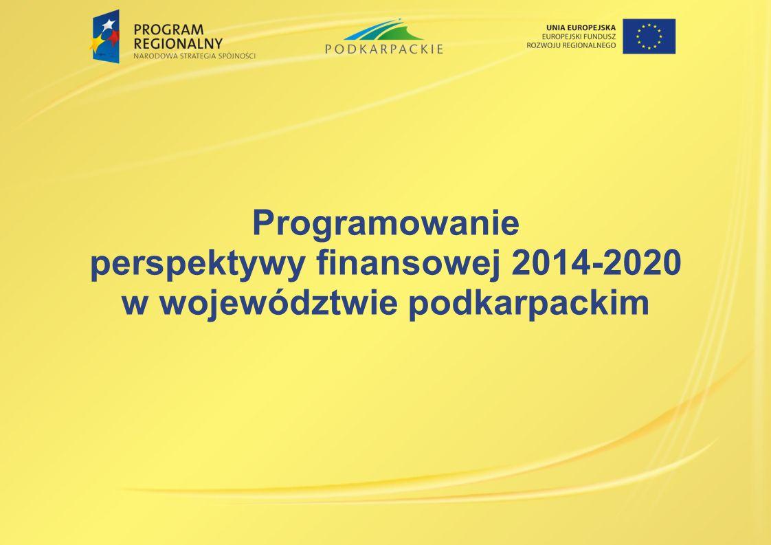 Programowanie perspektywy finansowej 2014-2020 w województwie podkarpackim