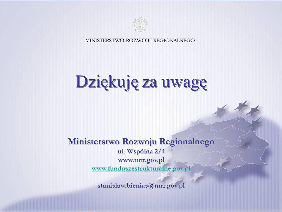 Ministerstwo Rozwoju Regionalnego ul.