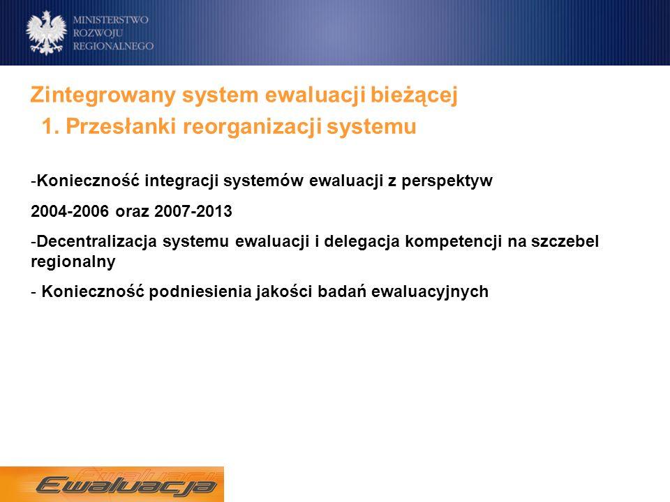 Zintegrowany system ewaluacji bieżącej 1.