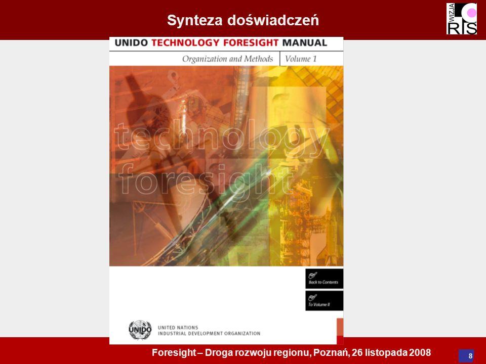 Foresight – Droga rozwoju regionu, Poznań, 26 listopada 2008 8 Synteza doświadczeń