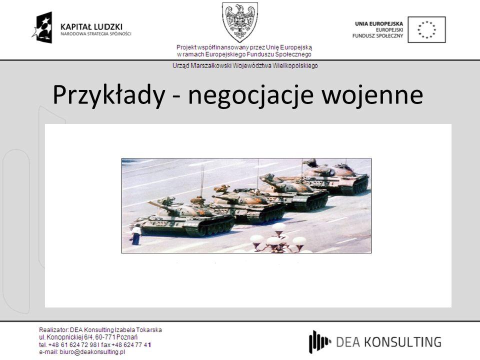 Przykłady - negocjacje wojenne