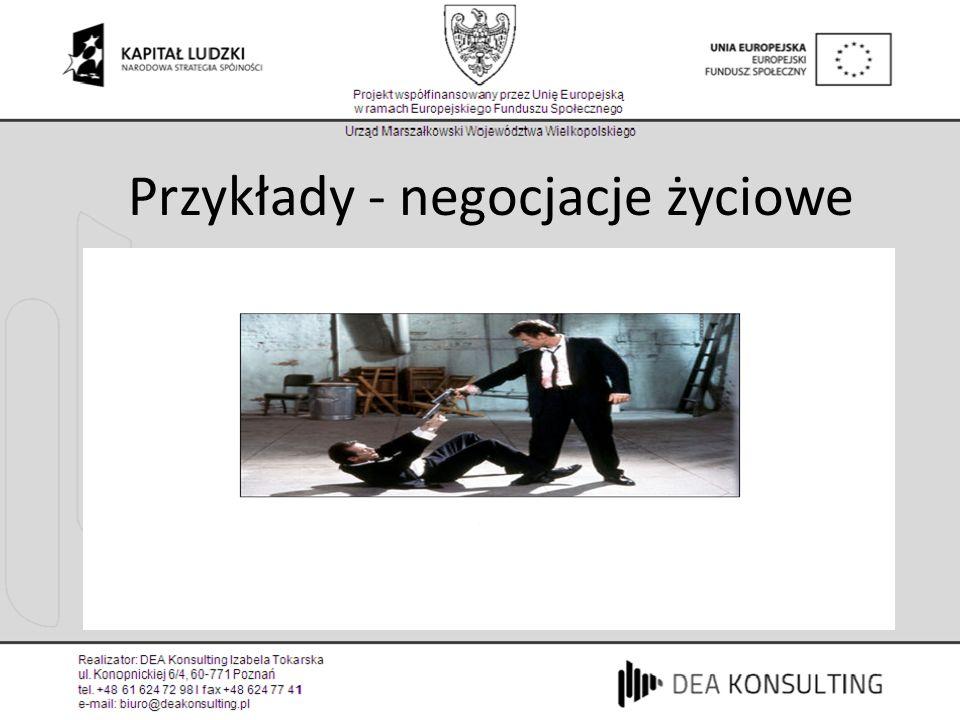 Przykłady - negocjacje życiowe
