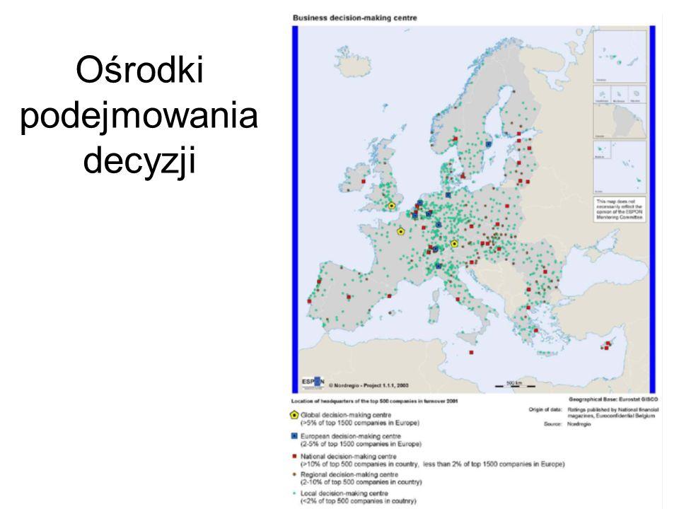 Zatrudnienie w przemy ś le high-tech, 2005 Zatrudnienie w us ł ugach wiedzy, 2005