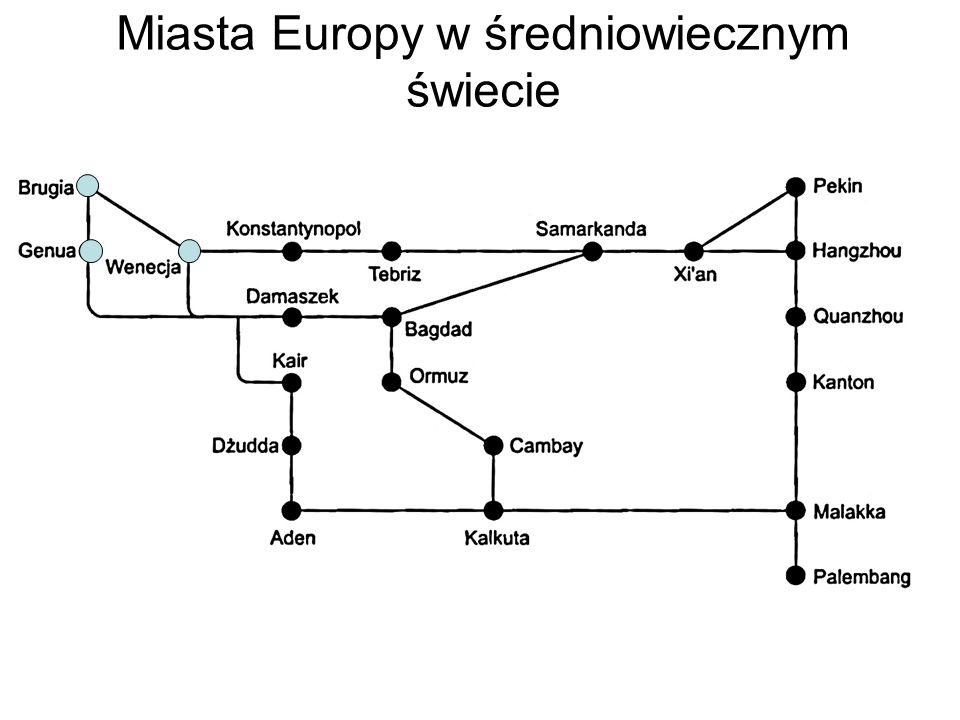 Średniowieczne sieci miast Sieć kurierska w Europie, późne średniowiecze