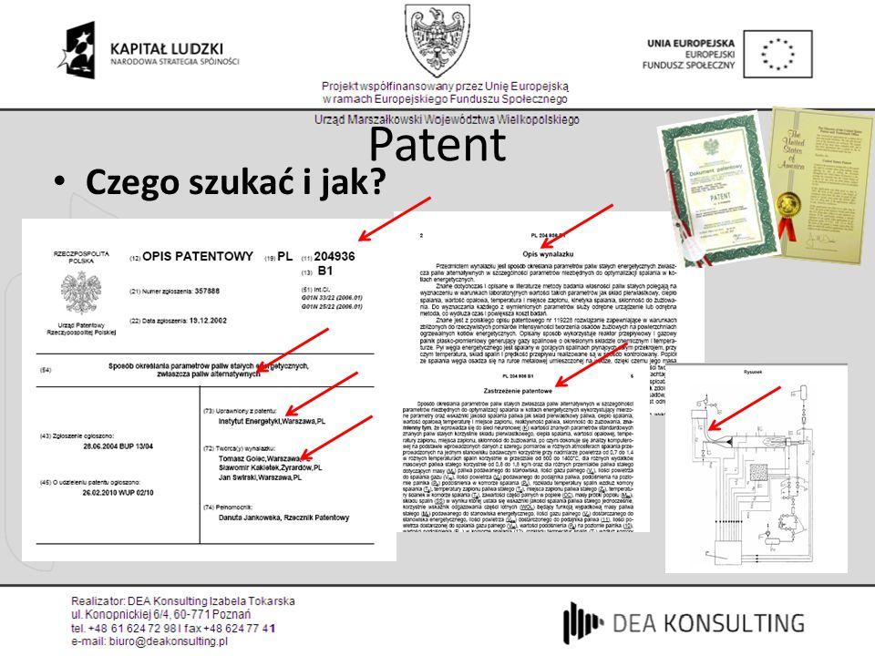 Patent Czego szukać i jak?