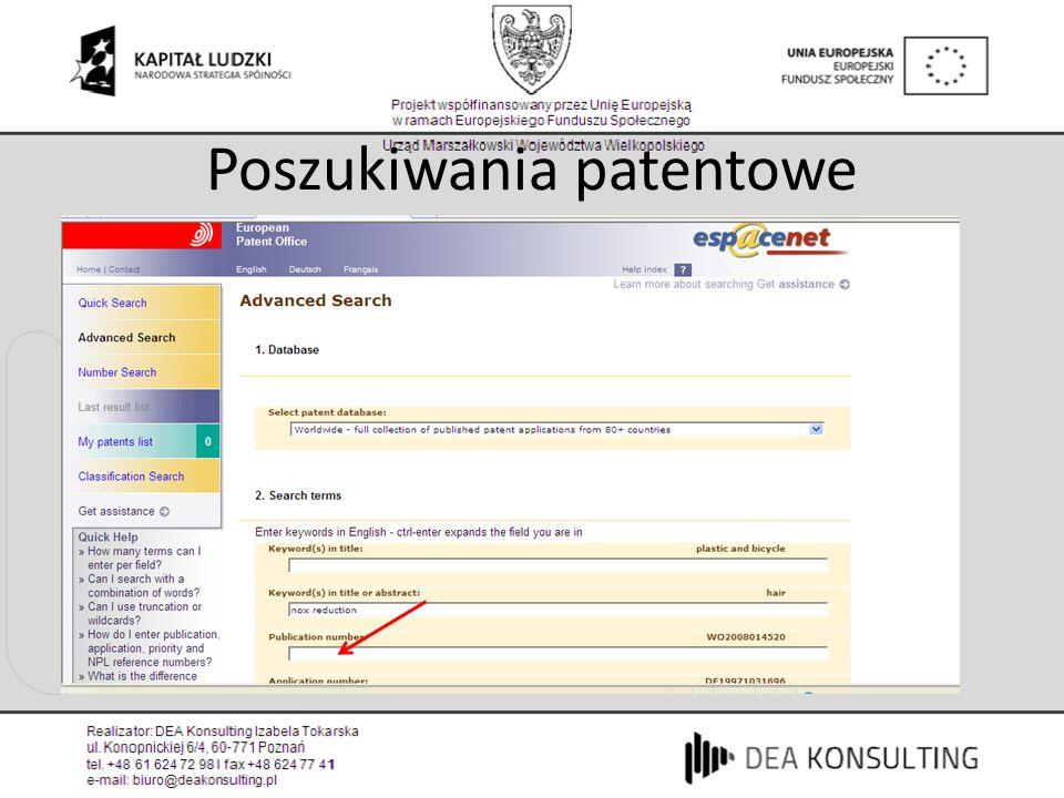 Poszukiwania patentowe