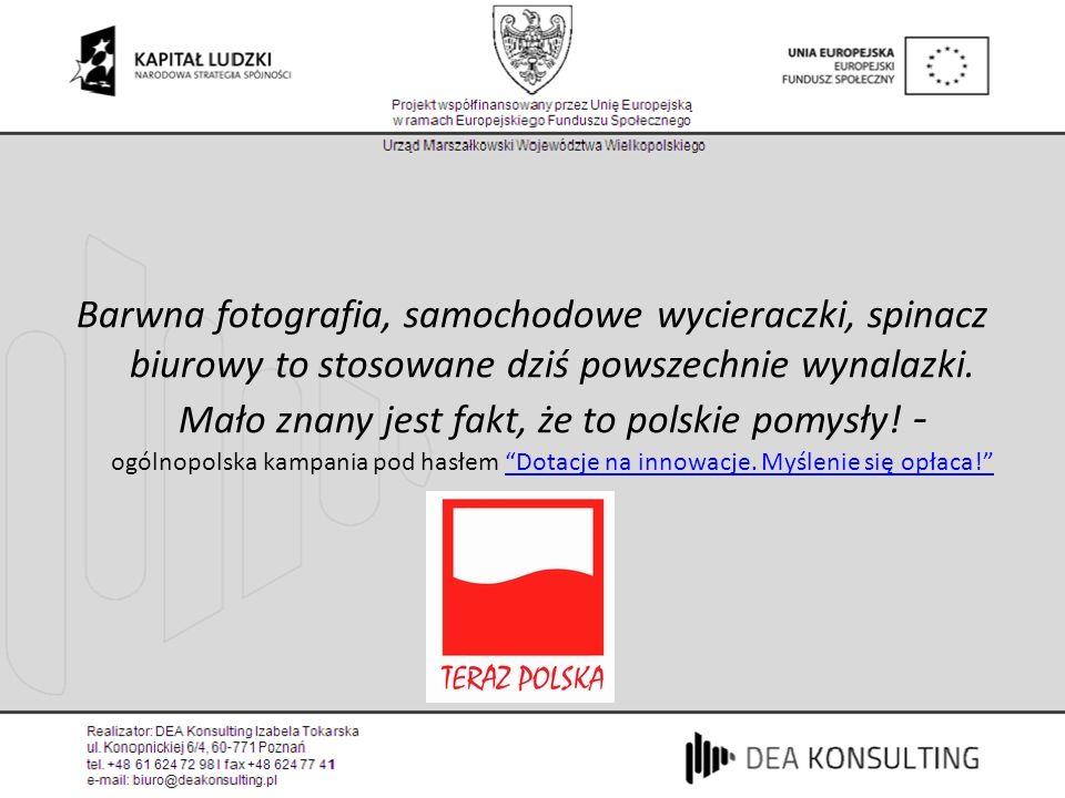 Barwna fotografia, samochodowe wycieraczki, spinacz biurowy to stosowane dziś powszechnie wynalazki. Mało znany jest fakt, że to polskie pomysły! - og
