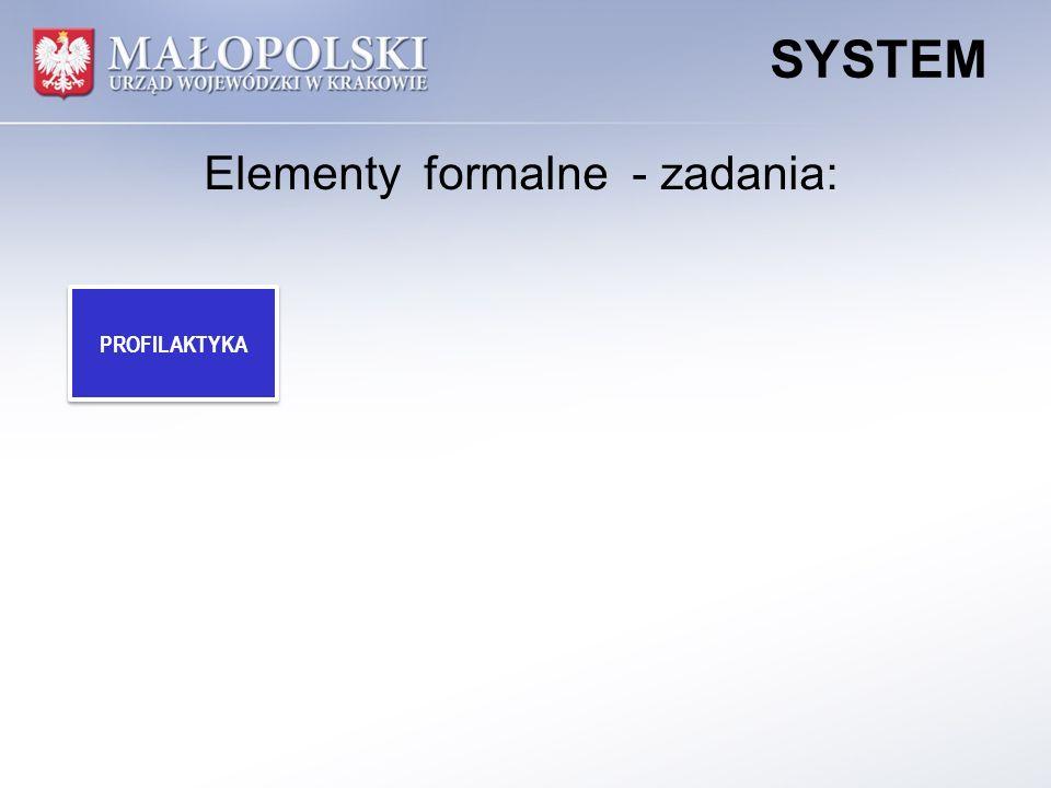 PROFILAKTYKA SYSTEM Elementy formalne - zadania: