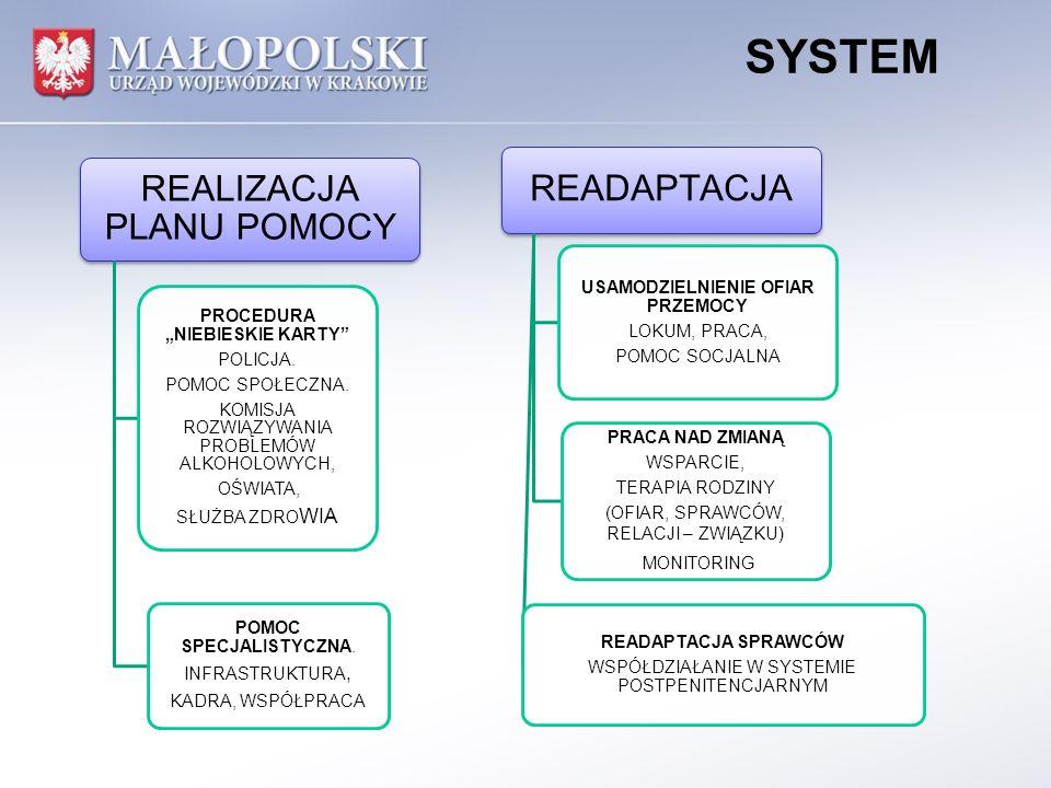 SYSTEM REALIZACJA PLANU POMOCY PROCEDURA NIEBIESKIE KARTY POLICJA.