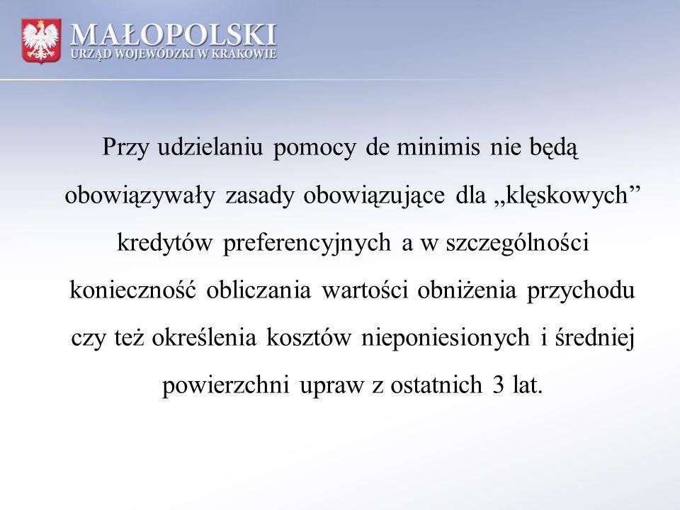 Ponadto w ramach założeń do programu pomocowego planuje się: 1) rozłożenie na raty, a w szczególnych przypadkach o umorzenie częściowe lub całkowite bieżących należności wobec KRUS, 2) rozłożenie na raty, a w szczególnych przypadkach o umorzenie częściowe lub całkowite bieżących należności wobec ANR, 3) rozłożenie na raty, a w szczególnych przypadkach o umorzenie częściowe lub całkowite bieżących należności z tytułu podatku rolnego.