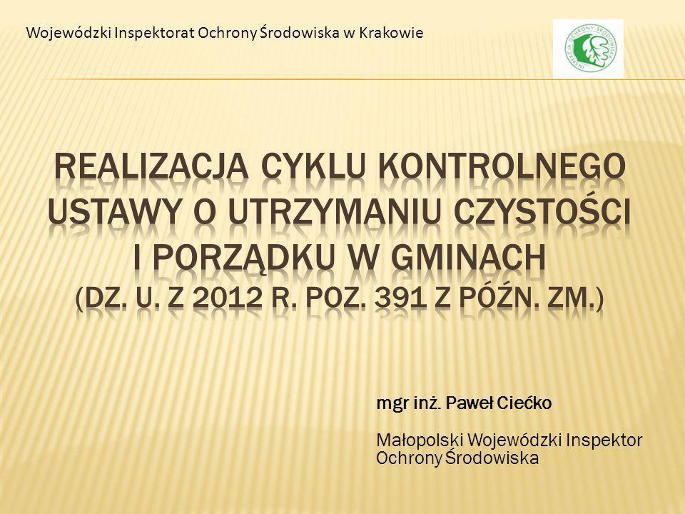 W ramach cyklu kontrolnego zostanie objętych kontrolą 20 gmin ( ok.