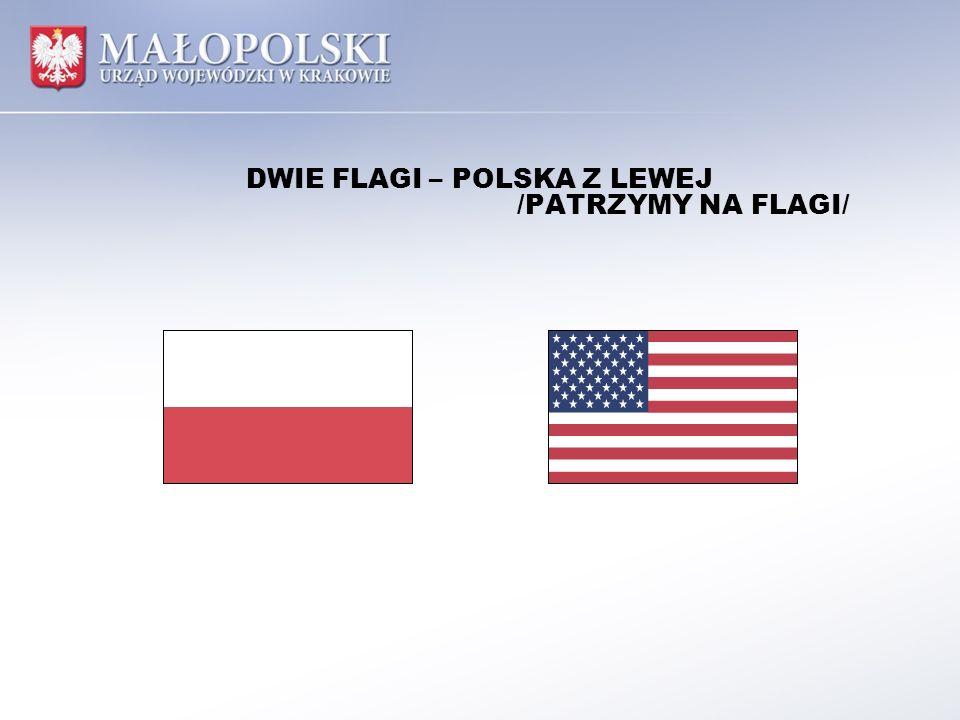 DWIE FLAGI – POLSKA Z LEWEJ /PATRZYMY NA FLAGI/