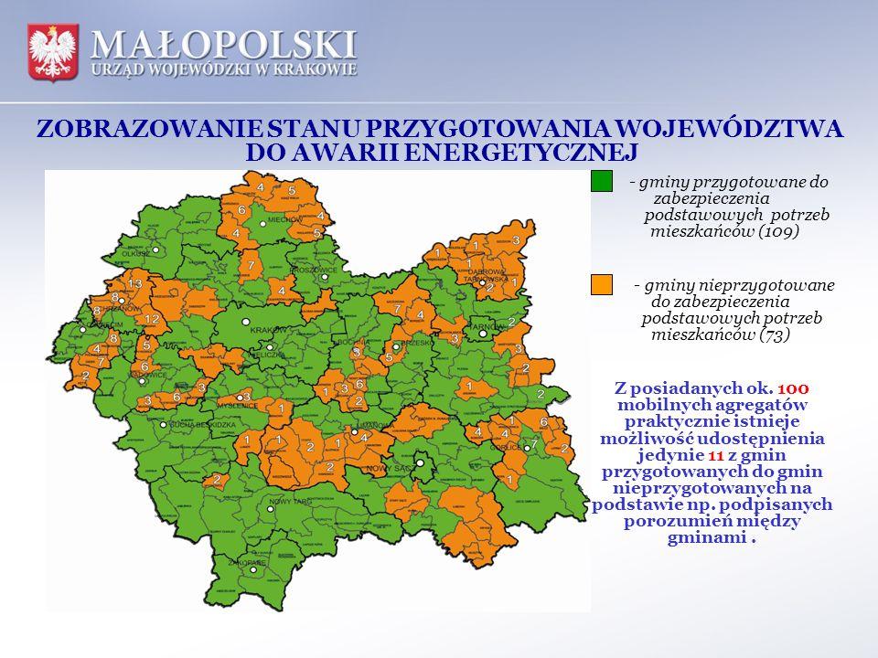 - gminy przygotowane do zabezpieczenia podstawowych potrzeb mieszkańców (109) - gminy nieprzygotowane do zabezpieczenia podstawowych potrzeb mieszkańc