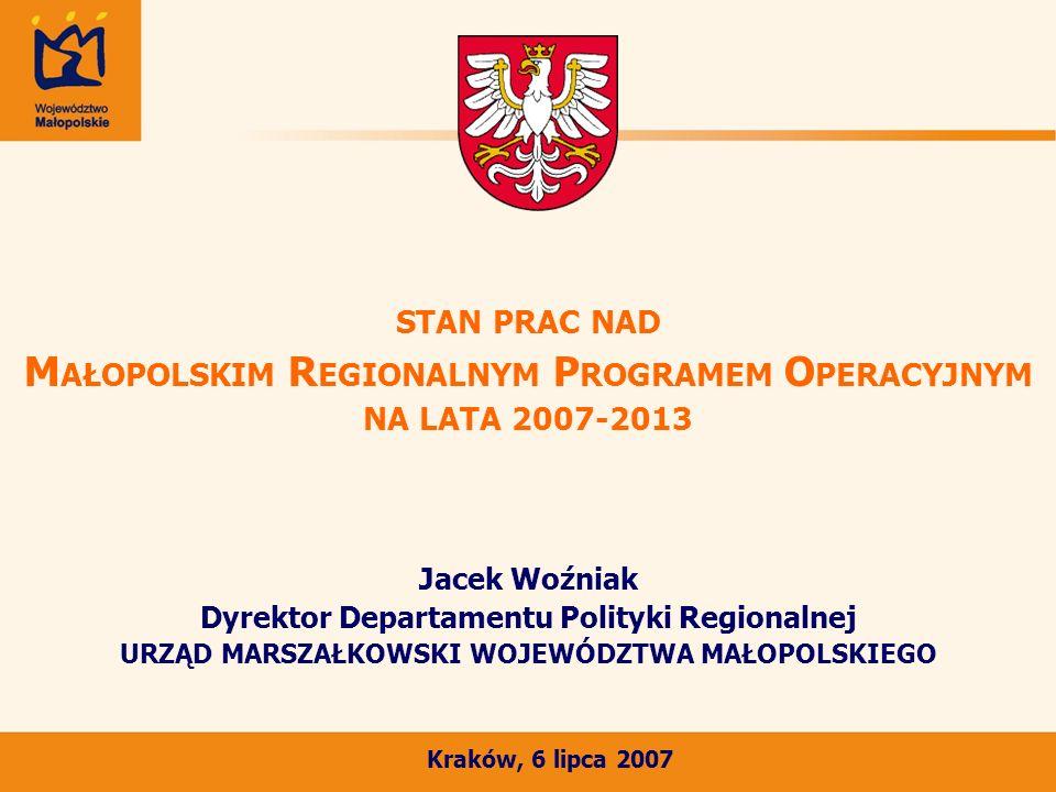 Postrzeganie MRPO przez MRR i KE Pozytywne opinie MRR i KE dotyczące: konstrukcji celów i logiki programu: podkreślenie czytelnej priorytetyzacji ukierunkowanej na wzmocnienie gospodarki regionu, wprowadzenia osobnego priorytetu dla miast: - Priorytet 5.