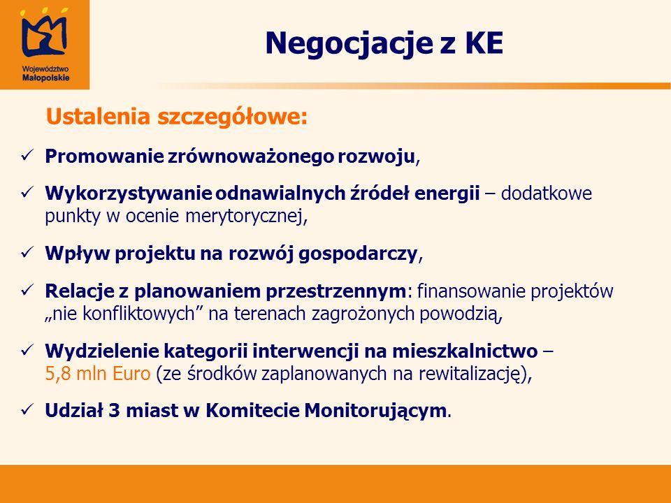 Aktualna lista projektów IPI Priorytet 5.Krakowski Obszar Metropolitalny Działanie 5.2.
