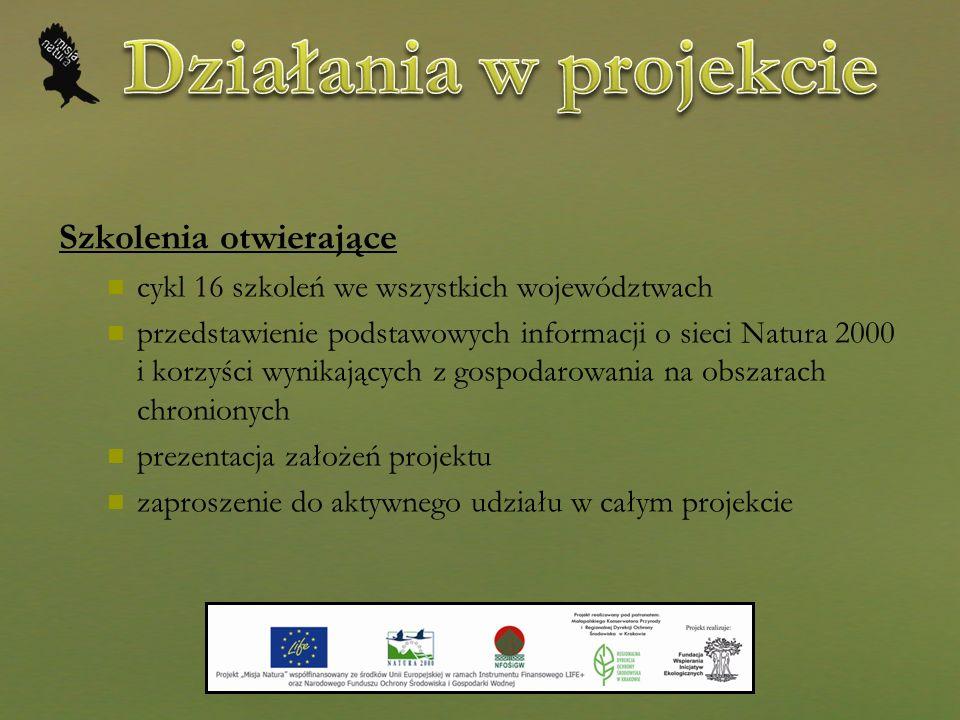 Centrum Informacji Natura 2000 Specjalistyczne doradztwa o funkcjonowaniu sieci NATURA 2000 działalność informacyjna, konsultacyjna, edukacyjna i doradcza platforma e-learningowa konsultacje terenowe plakaty informacyjne