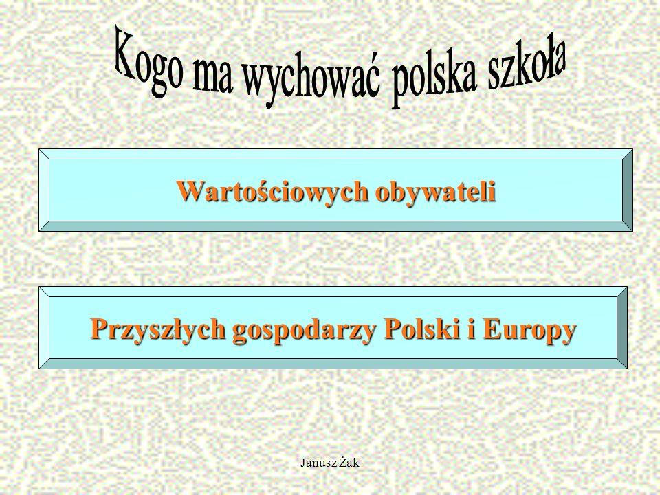Janusz Żak Wartościowych obywateli Przyszłych gospodarzy Polski i Europy