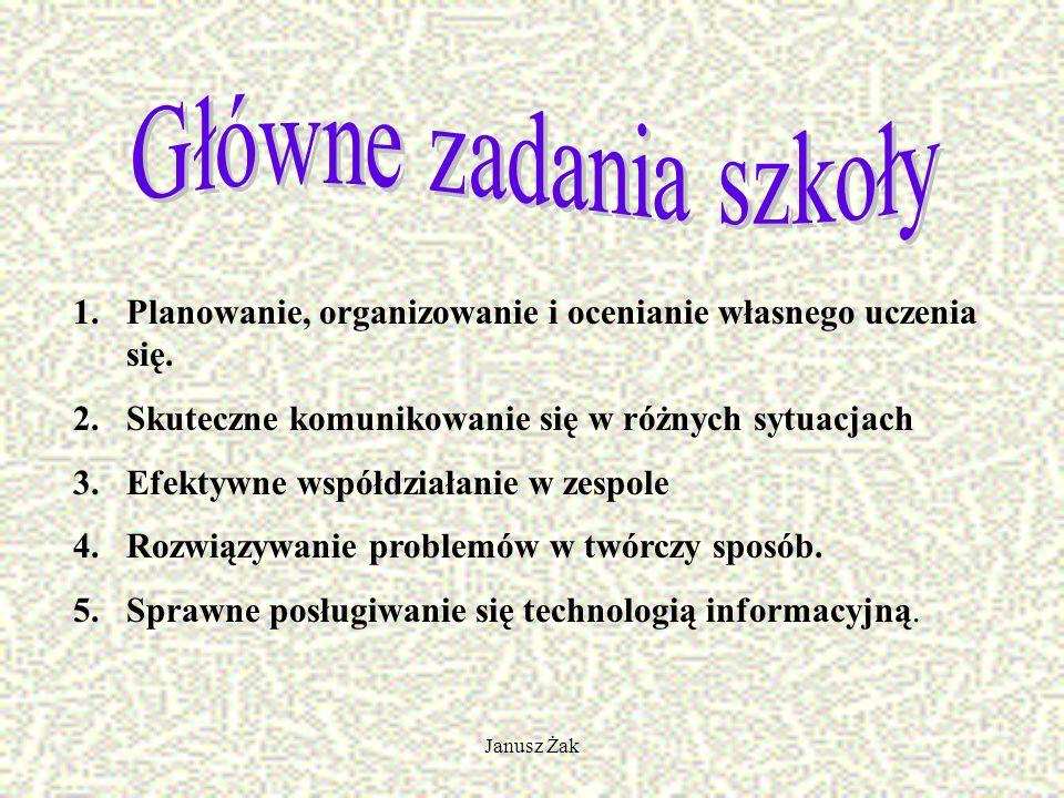Janusz Żak 1.Planowanie, organizowanie i ocenianie własnego uczenia się.