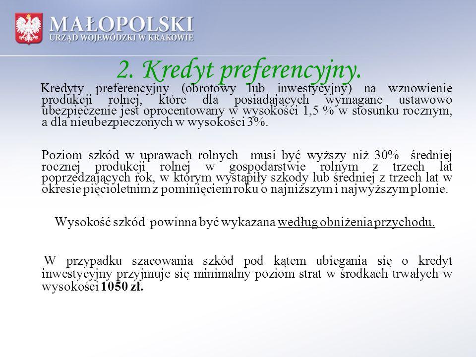 2. Kredyt preferencyjny.
