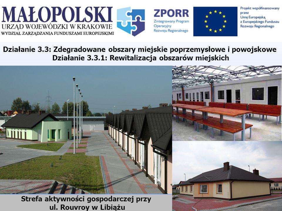 Strefa aktywności gospodarczej przy ul. Rouvroy w Libiążu Działanie 3.3: Zdegradowane obszary miejskie poprzemysłowe i powojskowe Działanie 3.3.1: Rew