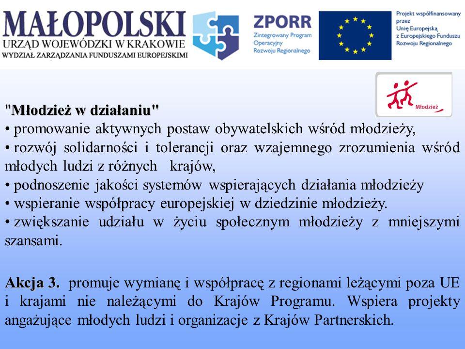 Akcja 3. Akcja 3. promuje wymianę i współpracę z regionami leżącymi poza UE i krajami nie należącymi do Krajów Programu. Wspiera projekty angażujące m