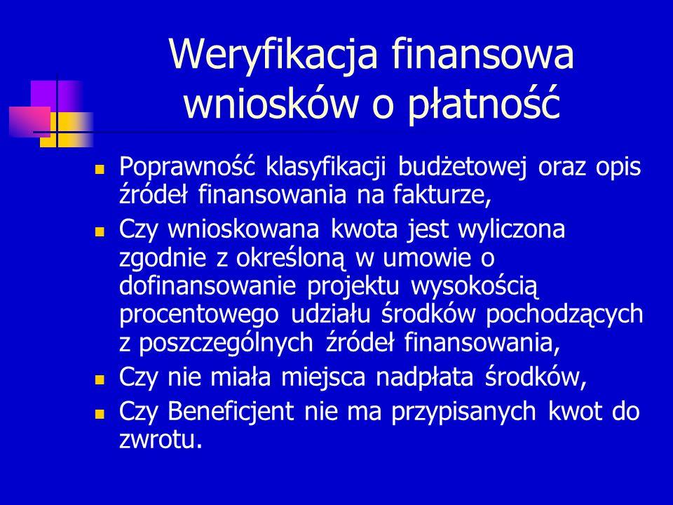 KONTAKT Oddział Obsługi Finansowej Funduszy Europejskich Wydział Finansów i Budżetu Tel.