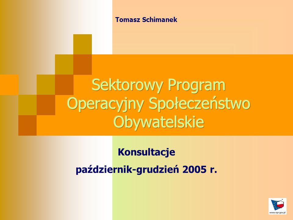 Tomasz Schimanek Konsultacje październik-grudzień 2005 r.