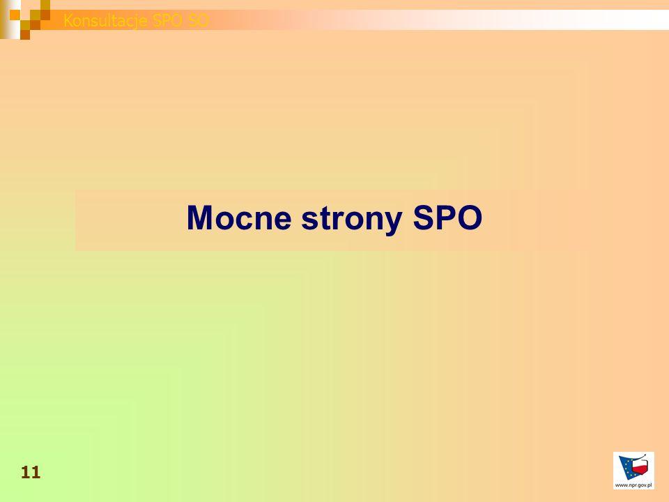 Mocne strony SPO 11 Konsultacje SPO SO