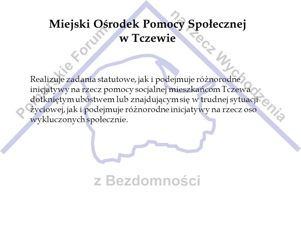 Miejski Ośrodek Pomocy Społecznej w Tczewie Realizuje zadania statutowe, jak i podejmuje różnorodne inicjatywy na rzecz pomocy socjalnej mieszkańcom T