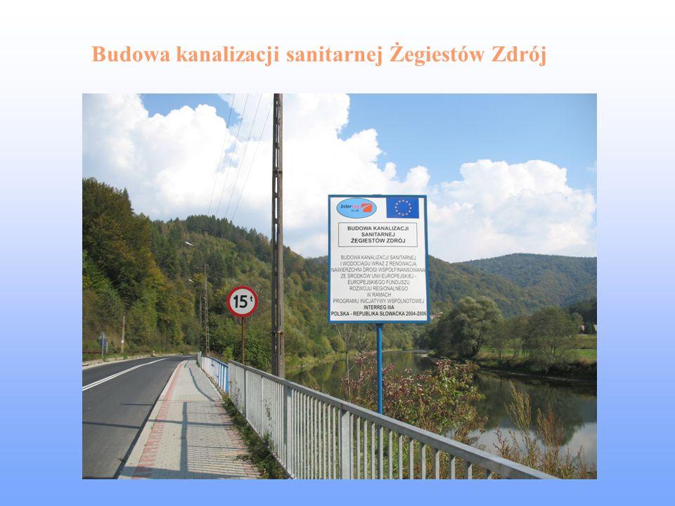 Budowa kanalizacji sanitarnej Żegiestów Zdrój