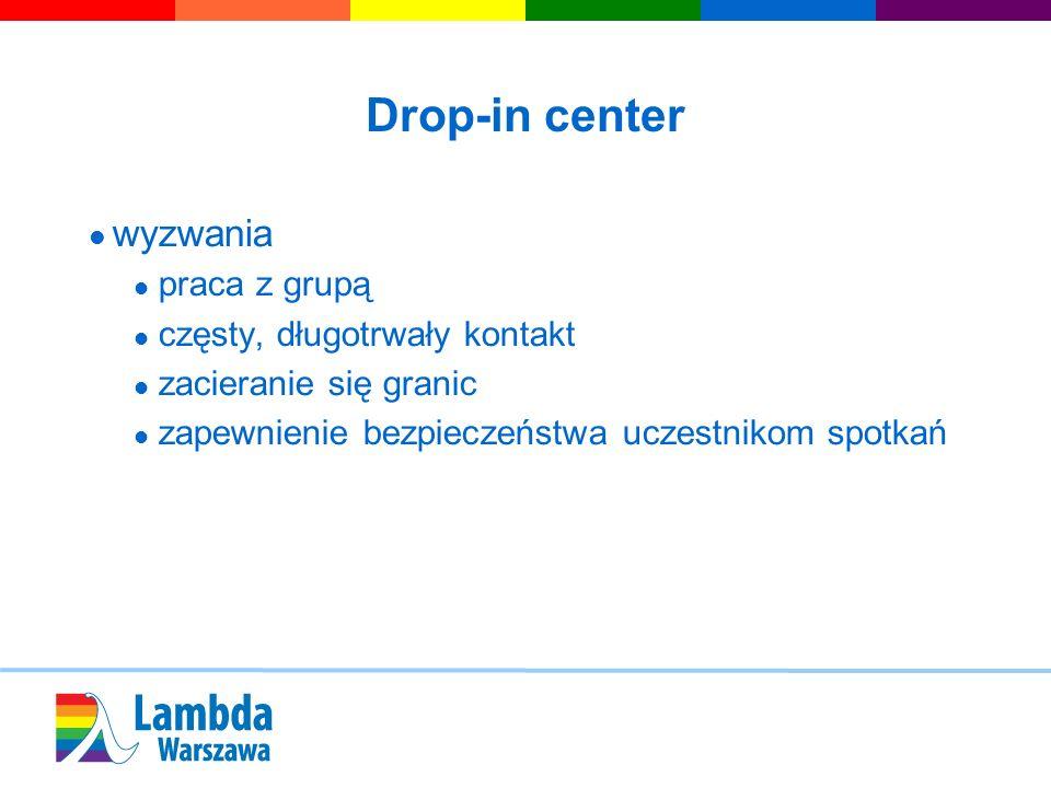 Drop-in center wyzwania praca z grupą częsty, długotrwały kontakt zacieranie się granic zapewnienie bezpieczeństwa uczestnikom spotkań