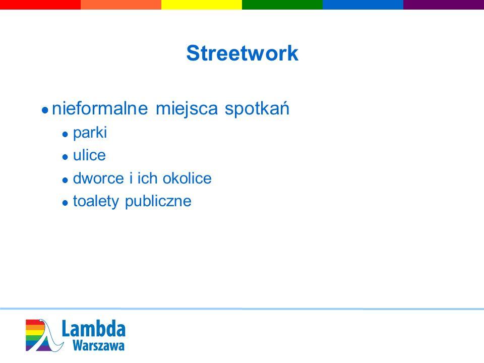 Streetwork nieformalne miejsca spotkań parki ulice dworce i ich okolice toalety publiczne