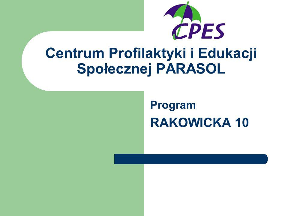 Centrum Profilaktyki i Edukacji Społecznej PARASOL Program RAKOWICKA 10