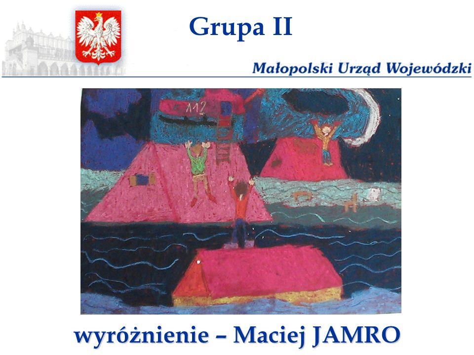 Grupa II wyróżnienie – Maciej JAMRO