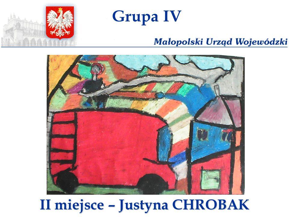 Grupa IV II miejsce – Justyna CHROBAK