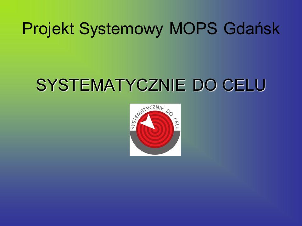 Projekt Systemowy MOPS Gdańsk SYSTEMATYCZNIE DO CELU